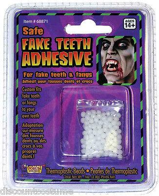 SAFE FAKE TEETH ADHESIVE THERMOPLASTIC BEADS CUSTOM FIT FAKE TEETH  FANGS EASILY](Teeth Fangs)