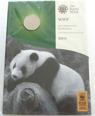 2011 Royal Mint World Wildlife 50th Anniversary WWF BU 50p Fifty Pence Coin Pack