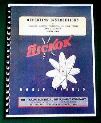 Hickok 605a Instruction Manual Tube Charts