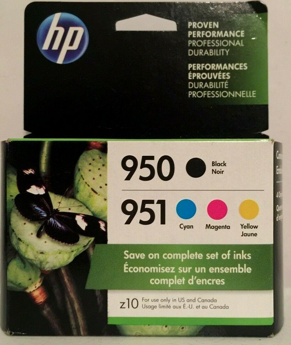 HP 950 951 Multi-Color Ink Cartridge Set X4E06AN Exp July/20