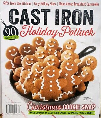Cast Iron Holiday Potluck 2019 Christmas Cookie Swap Recipes FREE SHIPPING CB ()