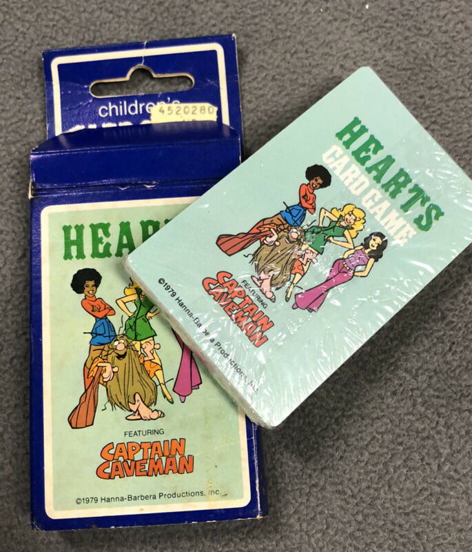 1979 Hanna Barbera Captain Caveman Hearts Hoyle Card Game New Sealed Vintage