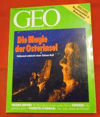 GEO 1993 Nr  6 , Osterinsel Wasser-Report Indische Armee Tourette-Syndrom Gepard