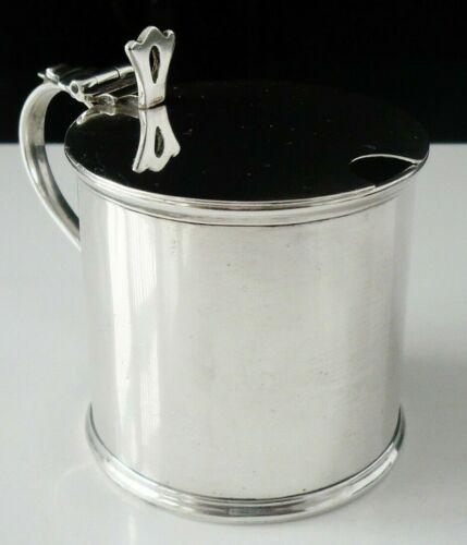 Substantial Antique Sterling Silver Mustard Pot, Stokes & Ireland Ltd 1910