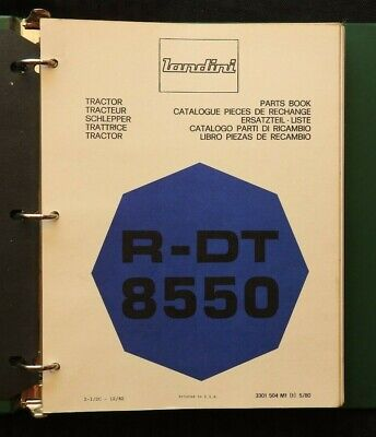 Genuine Landini R-dt 8550 Tractor Parts Catalog Manual Wbinder 250 Pgs Nice