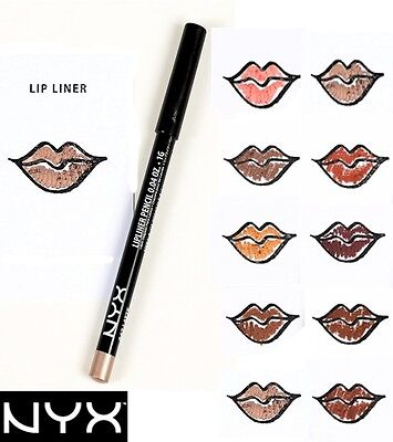NEW  ~ NYX ~ Slim Lip Liner Pencil PICK YOUR COLOR - Buy 4 Get 1 FREE  Full Size Slim Lip Liner Pencil