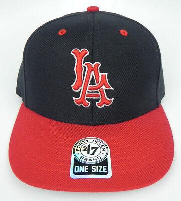 Anaheim Angels Cap - CALIFORNIA ANAHEIM LA ANGELS MLB VINTAGE STRAPBACK LA RETRO CAP HAT NWT 47 RARE!