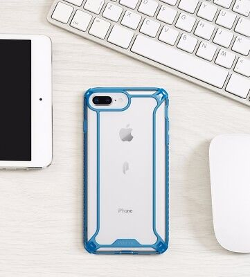 For Apple iPhone 8 Plus Case Blue POETIC【Afiinity】Dual material Protective Case