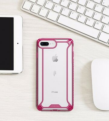 For Apple iPhone 8 Plus Case PinkPOETIC【Afiinity】Dual material Protective Case