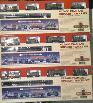3 Sets Lemax Christmas Village Train System With Extra Train Cars