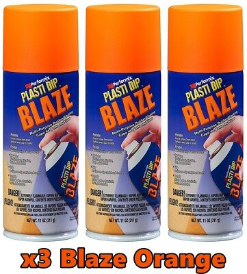 Performix Plasti Dip 11218 Blaze Orange 3 Cans Set Rubber Spray