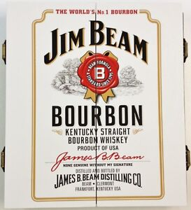 Jim Beam Bourbon Whiskey COLLECTORS Wooden Dart Board Cabinet CABINET ONLY