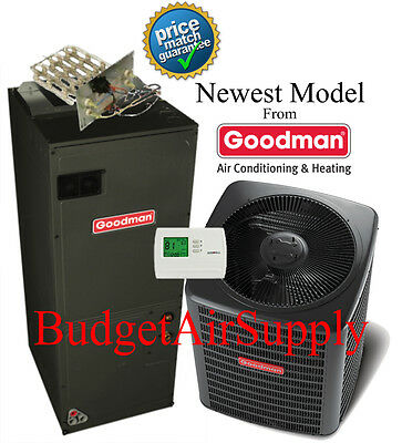 2.5 ton 14 Augur HEAT PUMP 410a Goodman Group GSZ140301+ARUF31B14