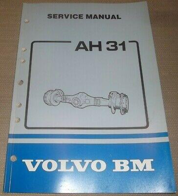 Volvo Bm Wheel Loader Ah31 Drive Axles Service Shop Manual Book