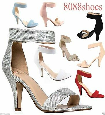 Women's Sexy Open Toe Ankle Strap High Heel Dress Sandals Shoes Size 6 - 11 -