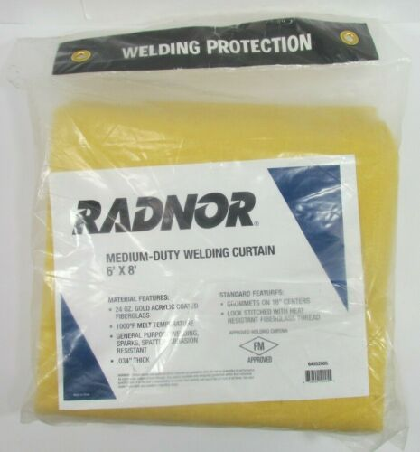 1 RADNOR 24 oz GOLD NEOPRENE COATED FIBERGLASS WELDING BLANKET RAD 64052005