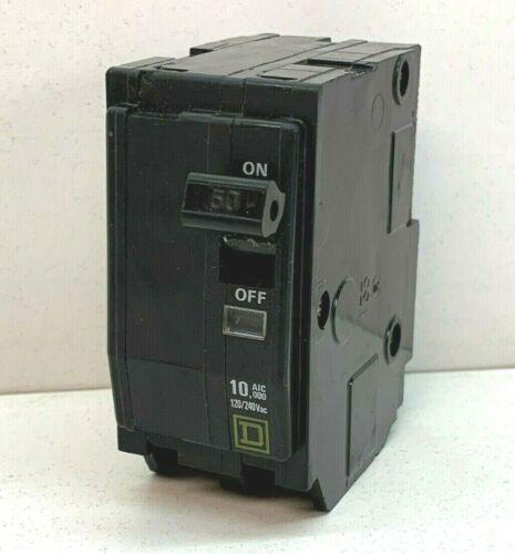 Square D QO250 Plug-On Circuit Breaker 50-Amp 2-Pole 120/240V 2P 50A