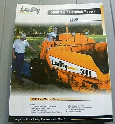 Factory Oem Dealership Brochure Leeboy 5000 Paver 1-07 Asphalt