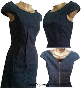 BN-NEXT-NAVY-COTTON-BRODERIE-ANGLAISE-LACE-LINED-SHIFT-PARTY-DRESS-TUNIC-8-18
