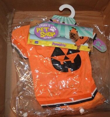 NEW RUBIE'S Halloween Pumpkin Dog S Small (see chart- sizing and breed) 2PC NWT ()