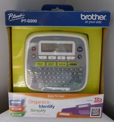 Brother P-touch Pt-d200 Easy To Use Label Maker Printer