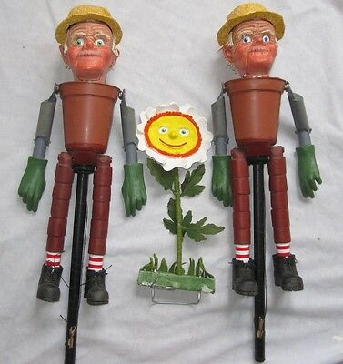 Bill & Ben Flower Pot Men Puppets Ventriloquist Watch With Mother Puppetry
