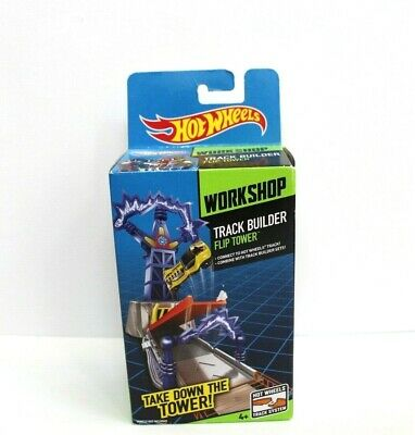 Hot Wheels Workshop Track Builder Flip Tower Stunt Pack