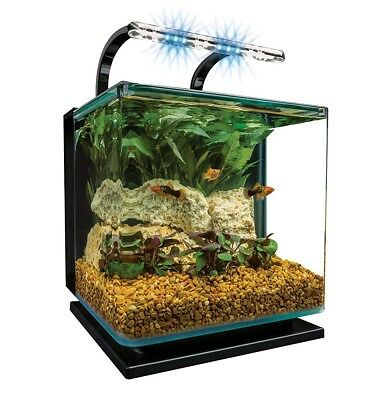 MarineLand Contour 3-Glass Aquarium Kit with Rail Light **WITH UPGRADED LIGHTING