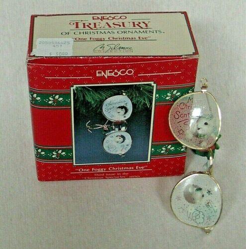 "ENESCO TREASURY ORNAMENT ""ONE FOGGY CHRISTMAS EVE""  3rd IN SERIES 1991"
