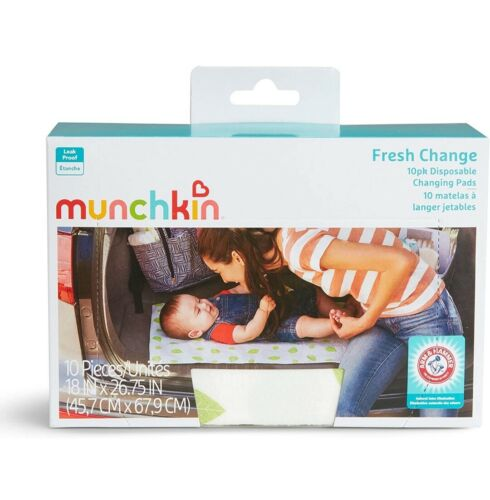 Munchkin Arm & Hammer Baby Disposable Changing Pads Pack of 10