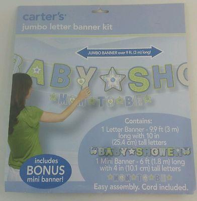 NEW Carters Jumbo Letter Banner Kit W/ Mini Banner Baby Shower Birthday