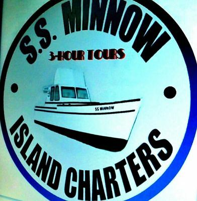 Skipper's SS Minnow Cruises of Gilligan's Island Metal Sign . . 3-Hour - Gilligan's Island Skipper