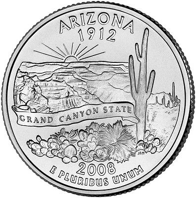 2008 P Arizona State Quarter BU
