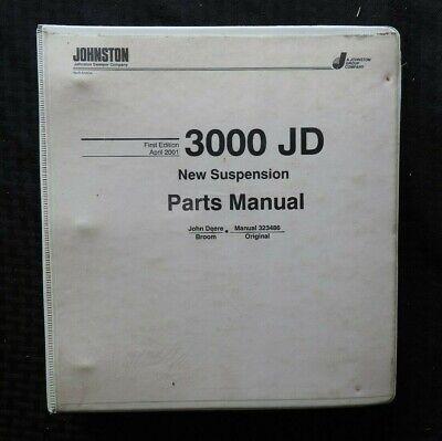 2001 Johnston 3000 Jd Series Street Sweeper Broom Parts Catalog Manual Deere