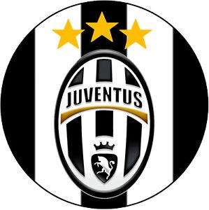 cialda scudetto juventus decorazione torta ostia o zucchero ... - Decorazioni Torte Juventus