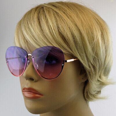 Damen Sonnenbrille Nostalgie Vintage 70er 80er Jahre Jahre Brille Kostüm randlos
