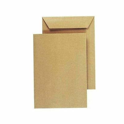 Strong Postal C4 Plain No Window Peel And Self Seal Manilla Brown Envelopes 50pc