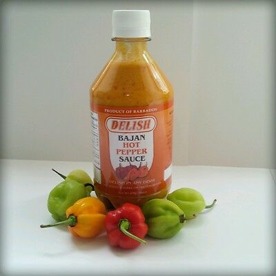 Mustard Pepper Sauce -  HOT PEPPER SAUCE. MUSTARD BASE. 2 PACK!! FREE SHIPPING! from Barbados.