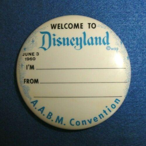 Rare 1960 Disneyland A.A.B.M. Convention Delegate
