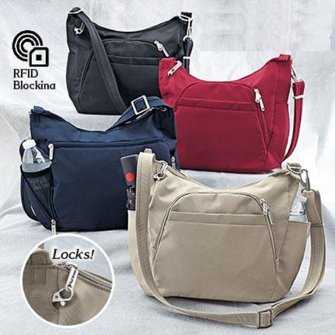 rfid anti theft cross body handbags antitheft
