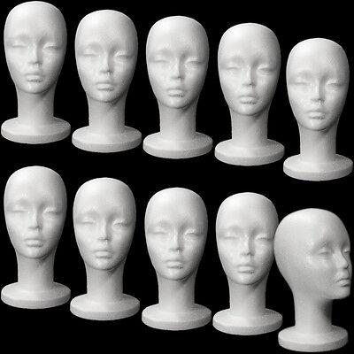 Less Than Perfect Mn-433-ltp 10 Pcs Female Styrofoam Mannequin Head W Long Neck