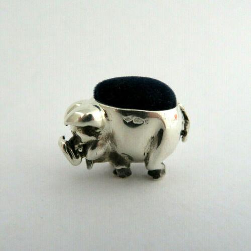 925 Sterling Silver Pig Piglet Mini Hog Animal Sewing Pin Cushion