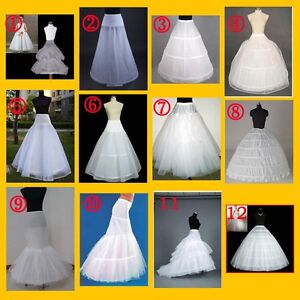 WHITE-BRIDAL-WEDDING-DRESS-PROM-PETTICOAT-UNDERSKIRT-CRINOLINE-Skirt-S-XL