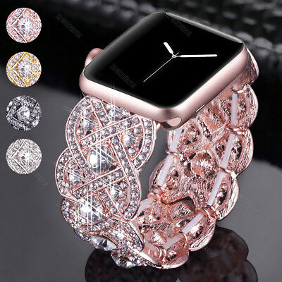 Bling Crystal Diamonds Bracelet Band Wrist Watch Strap For Apple Watch 38mm (Band Bling Watch)