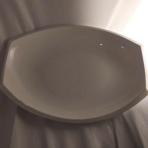 BIA Cordon Bleu White Stoneware Contemporary Platter EUC NEW