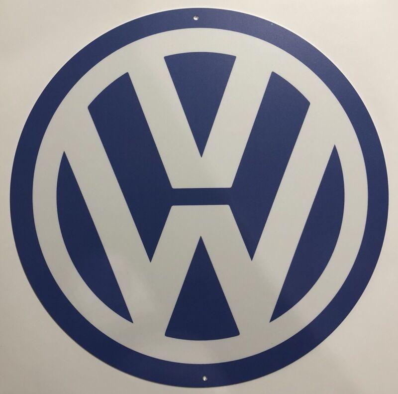 Volkswagen Round Metal Sign