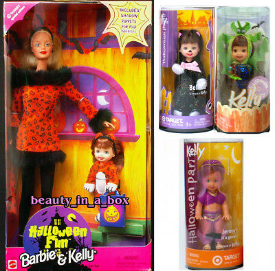 Halloween Kelly Doll Belinda Kitty Jenny Genie Becky Dragon Tiger Barbie Lot 4 - Kelly Halloween 4