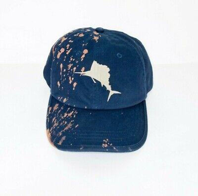 Blue Nautica Custom Faded Adjustable Cap Hat