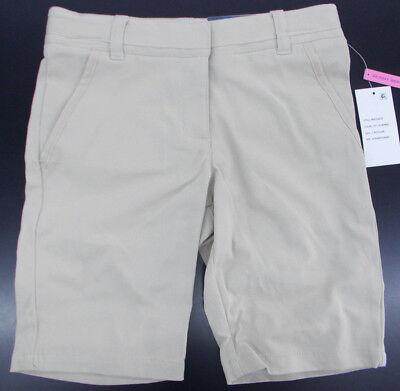 Girls Nautica $32 Khaki Skinny Bermuda Uniform/Casual Shorts Size 7 - -