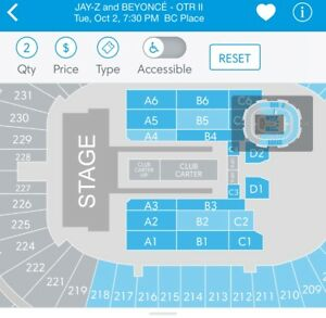 SEE BEYONCE & JAYZ LIVE !CHEAPEST FLOOR SEATS SECTION A1